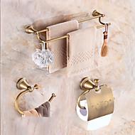 hesapli Banyo Aksesuar Seti-Banyo Aksesuarları Seti Neoklasik Pirinç Duvara Monte