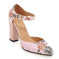 Mujer Zapatos Aterciopelado Verano Confort Tacones Tacón Cuadrado Negro / Rosa / Caqui Kj5JSx