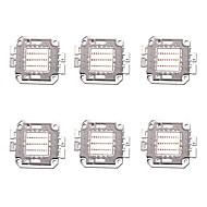 billige belysning Tilbehør-6pcs 1400 Led Brikke Messing Bulb Accessory 30W