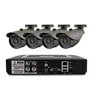 お買い得  DVRキット-yanse®4chセキュリティシステム1080n(4pcs ys-f278cf CCTVカメラ1pcs dvrキット)ir day night