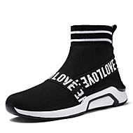 baratos Sapatos Masculinos-Homens Sapatas de novidade Lycra / Tule Primavera / Verão Botas Botas Curtas / Ankle Preto / Vermelho