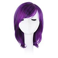 Sintetičke perike Wavy Bob frizura / Pixie frizura / Sa šiškama Sintentička kosa Prirodna linija za kosu / Stražnji dio / Afro-američka