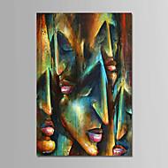 billiga Människomålningar-Hang målad oljemålning HANDMÅLAD - Människor Samtida Enkel Moderna Duk