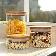 billiga Kök och matlagning-Glas Hög kvalitet Mat förråd 3pcs Kök Organisation