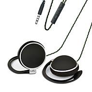 billiga Headsets och hörlurar-LIZU TY906 Öronkrok Kabel Hörlurar Dynamisk Koppar Mobiltelefon Hörlur mikrofon headset