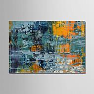 billiga Abstrakta målningar-Hang målad oljemålning HANDMÅLAD - Abstrakt Samtida Enkel Moderna Duk