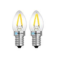 billige Globepærer med LED-brelong 2 stk 2w dimbar led filament lyspære ac 220v rød / hvit / varm hvit / e12 / e14