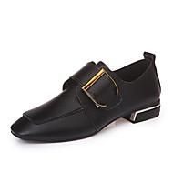 baratos Sapatos Femininos-Mulheres Sapatos Couro Ecológico Primavera / Verão Sapatos clube Sandálias Salto Robusto Peep Toe Branco / Preto