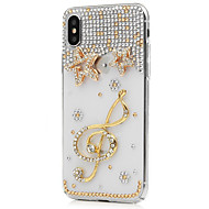 billiga Mobil cases & Skärmskydd-fodral Till Apple iPhone X iPhone 8 Plus Strass Fodral Blomma Hårt PU läder för iPhone X iPhone 8 Plus iPhone 8 iPhone 7 Plus iPhone 7