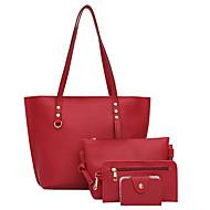 Damen Taschen PU Polyester Bag Set 4 Stück Geldbörse Set Perlenstickerei Reißverschluss für Normal Alle Jahreszeiten Schwarz Rote Rosa