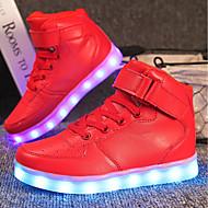 baratos Sapatos de Menina-Para Meninas Sapatos Materiais Customizados / Courino Primavera / Inverno Conforto / Tênis com LED Tênis Caminhada Cadarço / Colchete /
