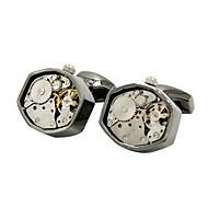 tanie Akcesoria dla mężczyzn-Geometric Shape Gray Manžetové knoflíčky Miedź Metaliczny Impreza Prezent Męskie Biżuteria kostiumowa