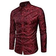 Chemise Homme, camouflage - Coton Jacquard Soirée Luxe / Manches Longues / Printemps