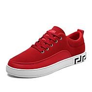 Cipele PU Proljeće Jesen Udobne cipele Sneakers za Kauzalni Crn Bež Sive boje Crvena