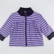 billige Sweaters og cardigans til babyer-Pige Trøje og cardigan Daglig Stribet Farveblok, Bomuld Forår Efterår Langærmet Sødt Aktiv Lilla Rosa