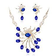 Žene Komplet nakita Svadbeni nakit Setovi Kristal Pozlaćeni Klasik Moda Vjenčanje Večer stranka 1 Ogrlica Füllbevalók Nakit odjeće