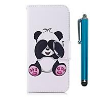 Etui Til Huawei P9 lite mini P10 Lite Kortholder Pung Med stativ Flip Magnetisk Fuldt etui Panda Hårdt PU Læder for P10 Lite P10 P9 lite