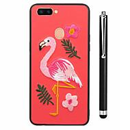billiga Mobil cases & Skärmskydd-fodral Till OPPO R9s R11s Mönster Skal Fodral Flamingo Djur Mjukt TPU för OPPO R11s Plus Oppo R11s Oppo R11 Plus Oppo R11 OPPO R9s Plus