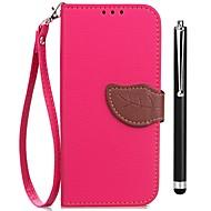 billiga Mobil cases & Skärmskydd-fodral Till Vivo X20 Plus X20 Korthållare Plånbok med stativ Lucka Fodral Ensfärgat Hårt PU läder för vivo X20 Plus vivo X20