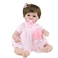 Χαμηλού Κόστους Home-NPK DOLL Κούκλες σαν αληθινές Παιδιά 18 inch Σιλικόνη / Βινύλιο - όμοιος με ζωντανό, Χειροποίητες βλεφαρίδες, Στυμμένα και σφραγισμένα νύχια Παιδικά Κοριτσίστικα Δώρο / CE / Φυσικός τόνος δέρματος