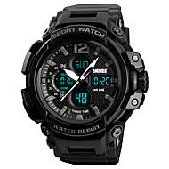 billige Sportsur-SKMEI Herre Digital Digital Watch / Militærur / Sportsur Japansk Alarm / Kronograf / Vandafvisende / Stopur / Tre Tidszoner PU Bånd