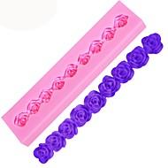 billige Bakeredskap-roser band kake silikon mold lang fondant sjokolade mold baking dekorasjon verktøy