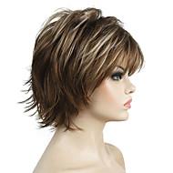 Cabelo Sintético perucas Encaracolado Riscas Naturais 100% cabelo kanekalon Faux Locs Wig Peruca Natural Peruca para Cosplay Curto
