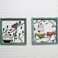 お買い得  ウォール装飾品-壁の装飾 メタル 田園 ウォールアート, 金属製壁飾り の 1