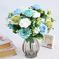 cheap -Artificial Flowers 1 Branch Pastoral Style Roses Wall Flower