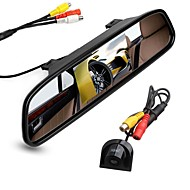 billiga Parkeringskamera för bil-ziqiao 4,3 tums digital tft lcd spegelmonitor och bil bakifrån kamera färg natt vision