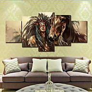 cheap Prints-Rolled Canvas Prints Modern, Five Panels Canvas Horizontal Print Wall Decor Home Decoration