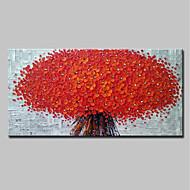 billiga Blom-/växtmålningar-Hang målad oljemålning HANDMÅLAD - 3D Blommig / Botanisk Moderna Duk