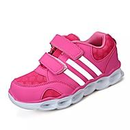 baratos Sapatos de Menina-Para Meninas Sapatos Couro Ecológico Primavera / Outono Conforto Sapatos de Barco Laço para Preto / Roxo / Rosa claro