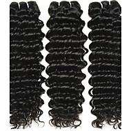 3 zestawy Włosy brazylijskie Deep Wave 10A Włosy virgin Fale w naturalnym kolorze 8-28 in Ludzkie włosy wyplata Ludzkich włosów rozszerzeniach