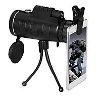 cheap Camping Tools, Carabiners & Ropes-40 Monocular Telescopes Outdoor Travel Lens with Stand Easy to Carry Carrying Case For Cellphone Zoom Night Vision With Tripod Ultra
