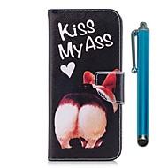 billiga Mobil cases & Skärmskydd-fodral Till Sony Xperia XZ Premium Xperia XZ1 Korthållare Plånbok med stativ Lucka Magnet Fodral Hund Hårt PU läder för Xperia XZ1