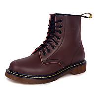 お買い得  メンズブーツ-男性用 靴 合成マイクロファイバーPU PUレザー ナパ革 春 夏 ファッションブーツ ブーツ ウォーキング ブーティー/アンクルブーツ のために カジュアル アウトドア ブラック Brown