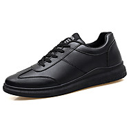 tanie Obuwie męskie-Męskie Komfortowe buty PU Lato Oksfordki Zdatny do noszenia Biały / Czarny / Czarny biały