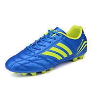 preiswerte Fußballschuhe-Herrn Schuhe PU Frühling Herbst Komfort Sportschuhe Fußball Schnürsenkel für Draussen Weiß Schwarz Grün Blau