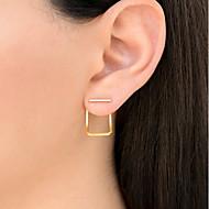 Dame Stangøreringe , Afslappet Mode Legering Geometrisk form Smykker Guld Sølv Rose Guld Daglig Ferie Kostume smykker