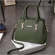 baratos Bolsas Tote-Mulheres Bolsas PU Tote Ziper Cinzento Escuro / Roxo / Verde Escuro