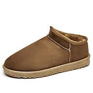 baratos Sapatos Masculinos-Homens Botas de Neve Couro Ecológico Inverno Botas Botas Curtas / Ankle Cinzento / Amarelo / Marron