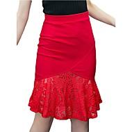 תחרה אחיד - חצאיות עבודה גזרת A / צינור מתוחכם מידות גדולות בגדי ריקוד נשים