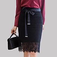 Žene Olovka Ulični šik Suknje - Jednobojni