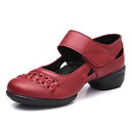 billige Moderne sko-Dame Moderne Kunstlær Joggesko utendørs Profesjonell Lav hæl Svart Rød Kan spesialtilpasses