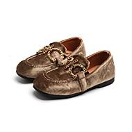 baratos Sapatos de Menino-Para Meninos Sapatos Flocagem Primavera Verão Conforto Rasos Elástico para Preto / Khaki / Verde Escuro