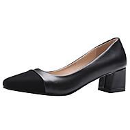 baratos Sapatos Femininos-Mulheres Sapatos Camurça Primavera / Verão Conforto Saltos Salto Robusto Ponteira Bege / Cinzento / Vinho