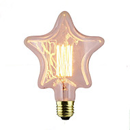 billige Glødelampe-1pc 40W E26/E27 Stjerne 2300 K Glødende Vintage Edison lyspære AC 220V AC 220-240V V
