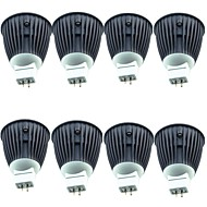 billiga Belysning-8pcs 4.5W 600lm MR16 LED-spotlights 1 LED-pärlor COB Varmvit Kallvit 12V