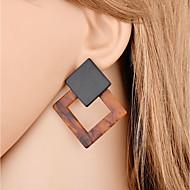 Dame Dråbeøreringe - Sexet / Mode Mørkebrun Geometrisk form Øreringe Til Gave / Aftenselskab